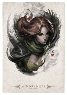 Windranger Portrait by Artgerm.deviantart.com on @deviantART