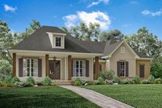 This beautiful Acadian design offers a tremendous layout that utilizes every square foot. The elegant exterior features an inviting front porch perfect for those relaxing evenings with family and frie