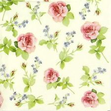 4 x Single Luxury Paper Napkins for Decoupage and Craft Vintage Pastel Roses