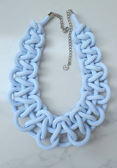 Halvány kék gallér nyaklánc #pastelnecklace#necklace#jeweller#blue#krisztinalangoaccessories