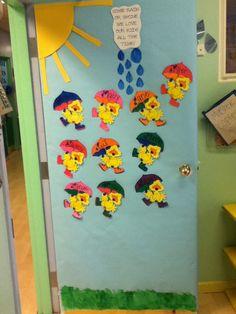 My spring classroom door