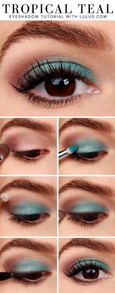 How-to Tropical Teal Eyeshadow Tutorial