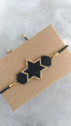 Your place to buy and sell all things handmade Silver Rings Handmade, Handmade Bracelets, Handmade Jewelry, Beaded Earrings, Beaded Jewelry, Beaded Bracelets, Miyuki Beads, Gold Stars, Mother Gifts
