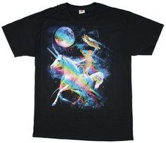 ae6f5fac2 Kitty Cat Riding A Unicorn Graphic T-Shirt - Medium Unicorn Graphic,  Unicorn Shirt