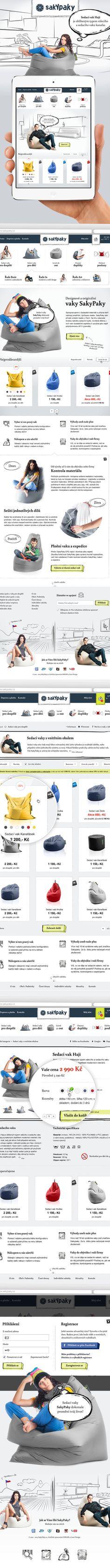 SakyPaky.cz - Sitting bags by Roman Káčerek, via Behance
