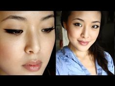 Perfect winged liquid eyeliner tutorial...I love this girl's videos