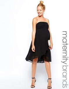 New+Look+Maternity+Chevron+Bandeau+Dress