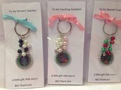 Teacher/ teaching assistant/ nursery/ childminder thank you keyrings, personalised thank you gift, teacher gifts