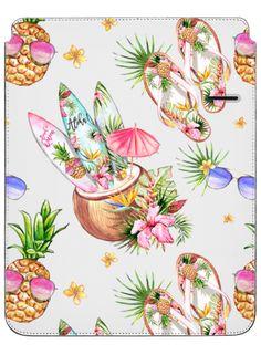 "Casetify iPad Pro 12.9"" iPad Pro Sleeve - Cute Pineapples with Sunglasses Tropical Flowers Surf Boards Coconut Cocktails Summer Fashion Shoes Aloha by Karamfila Siderova"