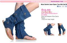 Horrifying Jean Sandal-Boots