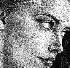 Amber Heard - Trama de puntos por joseluisrugilo - Retratos | Dibujando.net