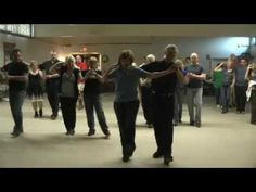 Linedance Lesson Couples Dance Sweetheart Schottische choreographer unknown - YouTube