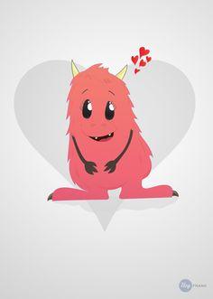 Monster Lover II by Hey Frank!  #Illustration #Ilustracion #cartoon #love