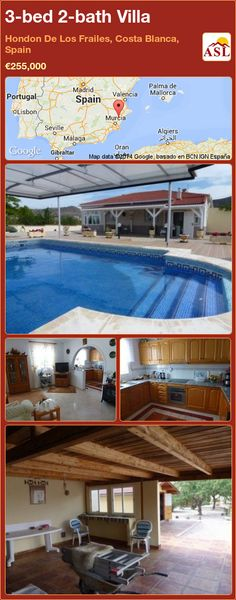 3-bed 2-bath Villa in Hondon De Los Frailes, Costa Blanca, Spain ►€255,000 #PropertyForSaleInSpain