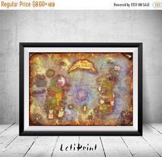 World Of Warcraft, World Of Warcraft Map, World Of Warcraft Wall Art, World Of Warcraft Poster, World Of Warcraft Print, Nursery Art Decor  PLEASE NOTE