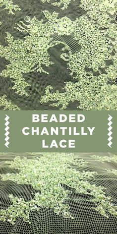 Pale Green Beaded Chantilly Lace