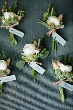 Boutonnieres!! Amazing florals: Fleurie // Amazing Photography: Abby Grace Photography