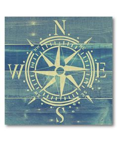 This Compass Rose Wrapped Canvas by Courtside Market is perfect! #zulilyfinds