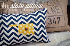 DIY State Pillow