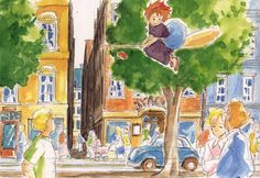 Living Lines Library: 魔女の宅急便 / Kiki's Delivery Service (1989) - Color Keys