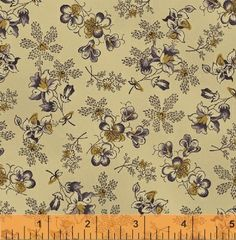 """First Ladies - Nancy Gere - Windham Fabrics 36239 5 Purple Pretty Flora 100% Cotton 44-45"""" wide 1800's Reproduction Fabric"""