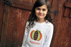 Personalized Pumpkin Applique Shirt or by AddieKakesKreations