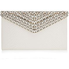 Jimmy Choo Charlize Off White Satin Python Clutch Bag with Crystals ($4,995) ❤ liked on Polyvore featuring bags, handbags, clutches, purses, bolsas, accessories, off white, flap purse, champagne handbag and python handbags