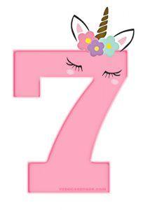 Numeros de Unicornios para Imprimir Gratis | Todo Candy Bar Unicorn Birthday Decorations, 7th Birthday Party Ideas, Unicorn Party Invites, Unicorn Birthday Parties, Kids Spa, Unicorn Drawing, Unicorn Cookies, Unicorn Pictures, Unicorn Printables