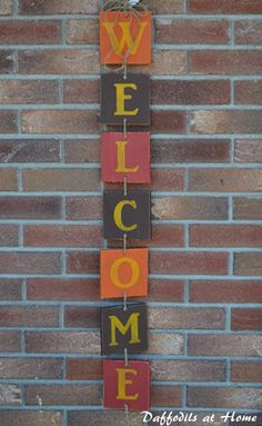 Fall welcome craft for your front porch with tutorial!
