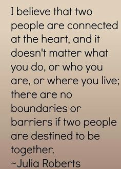 No boundaries or barriers if two people are destined to be....