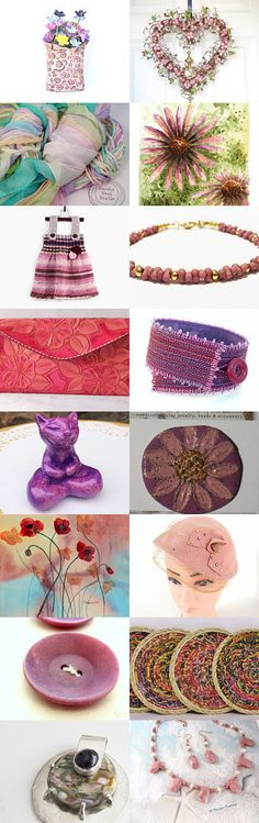 Pretty Pinks and Purples by Kathy Lindemer on Etsy--Pinned+with+TreasuryPin.com