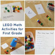 ~Lego, Lego, more Lego:  LEGO Math Activities for First Grade