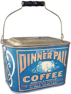Dinner Pail Coffee Tin