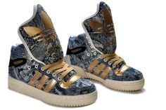 Adidas Obyo Shoes Gold Blue