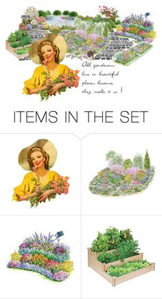 """""""The Avid Gardener'"""" by dianefantasy ❤ liked on Polyvore featuring art"""