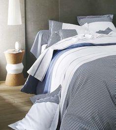 chambre bleue et blanche dco bord de mer ctmaisonfr - Decoration Chambre Adulte Bord De Mer