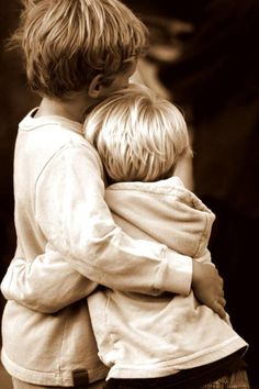 I chose the picture of two boys hugging each other to symbolize melody's two brothers.