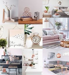 blush and copper decor