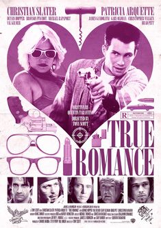 Alternative film poster design for True Romance. True Romance, Romance Movies, Drama Movies, Cult Movies, Indie Movies, Watch Movies, Action Movies, The Best Films, Great Movies