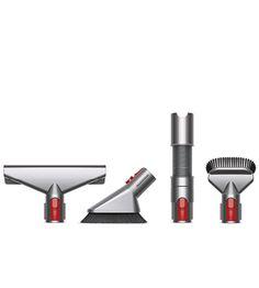 Front view of Dyson Handheld accessory kit for vacuum cleaners. With 4 Dyson accessories for a cleaning your home and car.