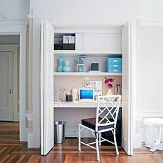 Small Home Office Design Inspiring Worthy Design Ideas Small Office Tiny House Small Modern. Furniture, Cool Small Home Office Design Closet Desk, Closet Office, Office Nook, Home Office Space, Small Office, Home Office Design, House Design, Closet Space, Office Spaces