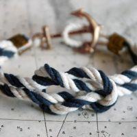 ACK Latitude Triton Knot sailing bracelet from Kiel James Patrick Nautical Knots, Nautical Bracelet, Nautical Jewelry, Anchor Jewelry, Nautical Style, Nautical Clothing, Anchor Bracelets, Rope Bracelets, Nautical Colors