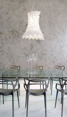 Master by Philippe Starck and Eugeni Quitlet Bloom By Feruccio Laviani Masters Chair, Kartell, Philippe Starck, Piece A Vivre, Dining Table Chairs, Dining Rooms, Dining Room Design, Home Decor Furniture, Interior Design Living Room