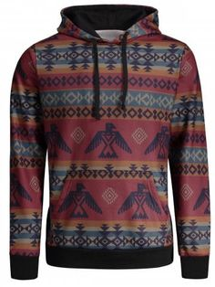 c0da5971d348ac Shop for Colormix 2xl Kangaroo Pocket Tribal Print Hoodie online at $24.85  and discover fashion at