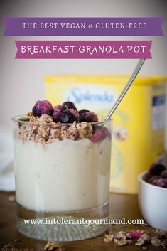 Breakfast Granola Pots - vegan, gluten-free and nut-free and super simple to make yet still delicious! www.intolerantgou...