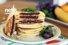 Muhteşem Altın Pankek - Nefis Yemek Tarifleri Waffles, Pancakes, Time To Eat, Macarons, Nutella, Food And Drink, Breakfast, Morning Breakfast, Food And Drinks