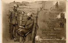 John Beadle illustrated this Christmas card for the 7th Division.