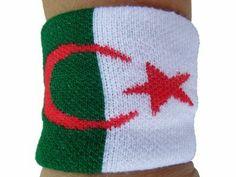 ALGERIA ALGERIAN COUNTRY WRISTBAND FLAG SOCCER SPORTS
