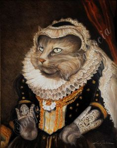 =^. ^= Cat Art =^. ^= ❤ ...Commissioned Royal Pet Portraits by LordTruffles on Etsy...