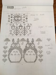 "craftslayerpdx's ""Totoro"" Fair-Isle Baby Blanket – The Best Ideas Loom Knitting Patterns, Knitting Charts, Knitting Stitches, Knitting Projects, Baby Knitting, Embroidery Patterns, Cross Stitch Patterns, Knitting Tutorials, Free Knitting"